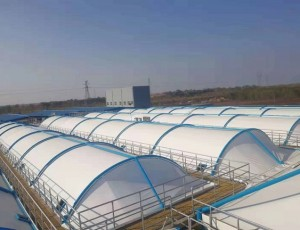 膜结构污水池加盖设计连接时需考虑的因素