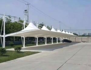 简析安装膜结构停车棚的操作工艺