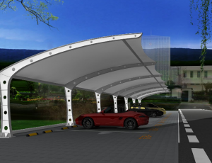 企业膜结构车棚的安装使用从根源上降低运营成本