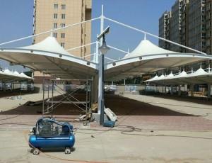 车棚厂家安装钢构件的技术分析