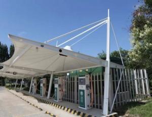 膜结构充电桩钢架的施工顺序