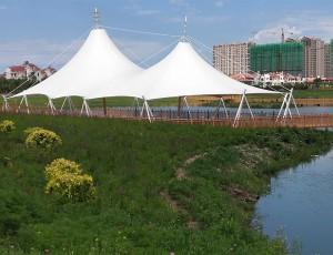 膜结构景观中钢结构连接施工常用的方法