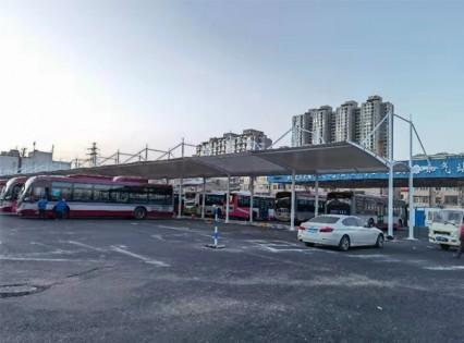 山西太原第四公交车站充电桩车棚