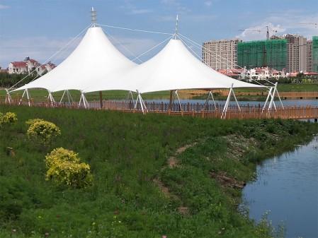 内蒙古乌兰浩特成吉思汗公园景观膜结构