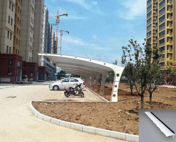 滨州市开发区第二小学膜结构车棚