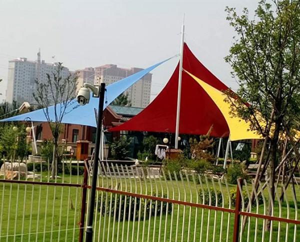 淄博市高青县在河之心洲水上游乐园膜结构景观