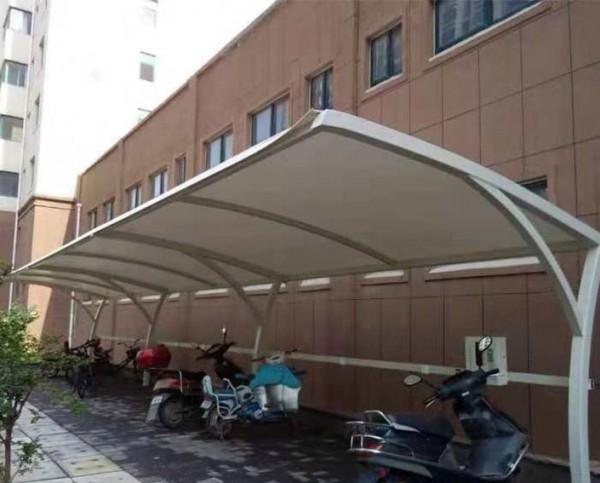 东营胜利油田小区膜结构自行车棚