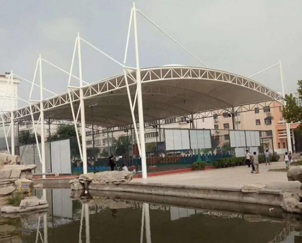 安徽阜阳太和县一中学膜结构球场覆盖