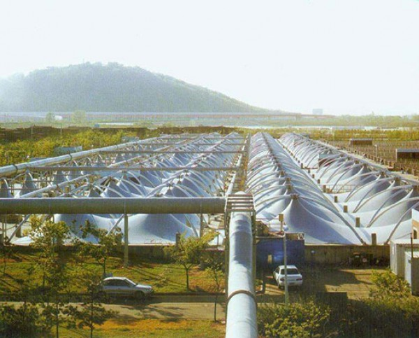 气浮式污水池加盖