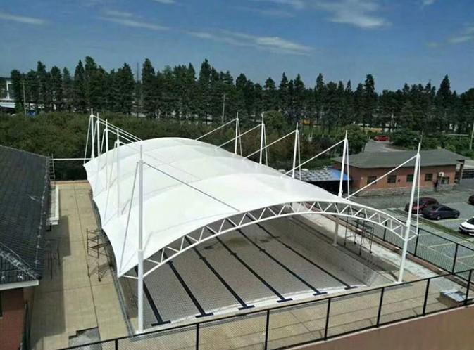 高密市姜庄镇膜结构泳池65米长35米宽整体覆盖