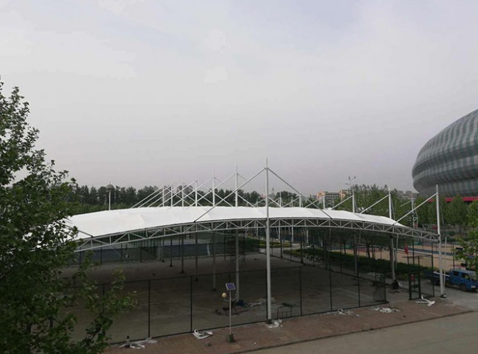聊城体育馆篮球场56米款83米长整体覆盖